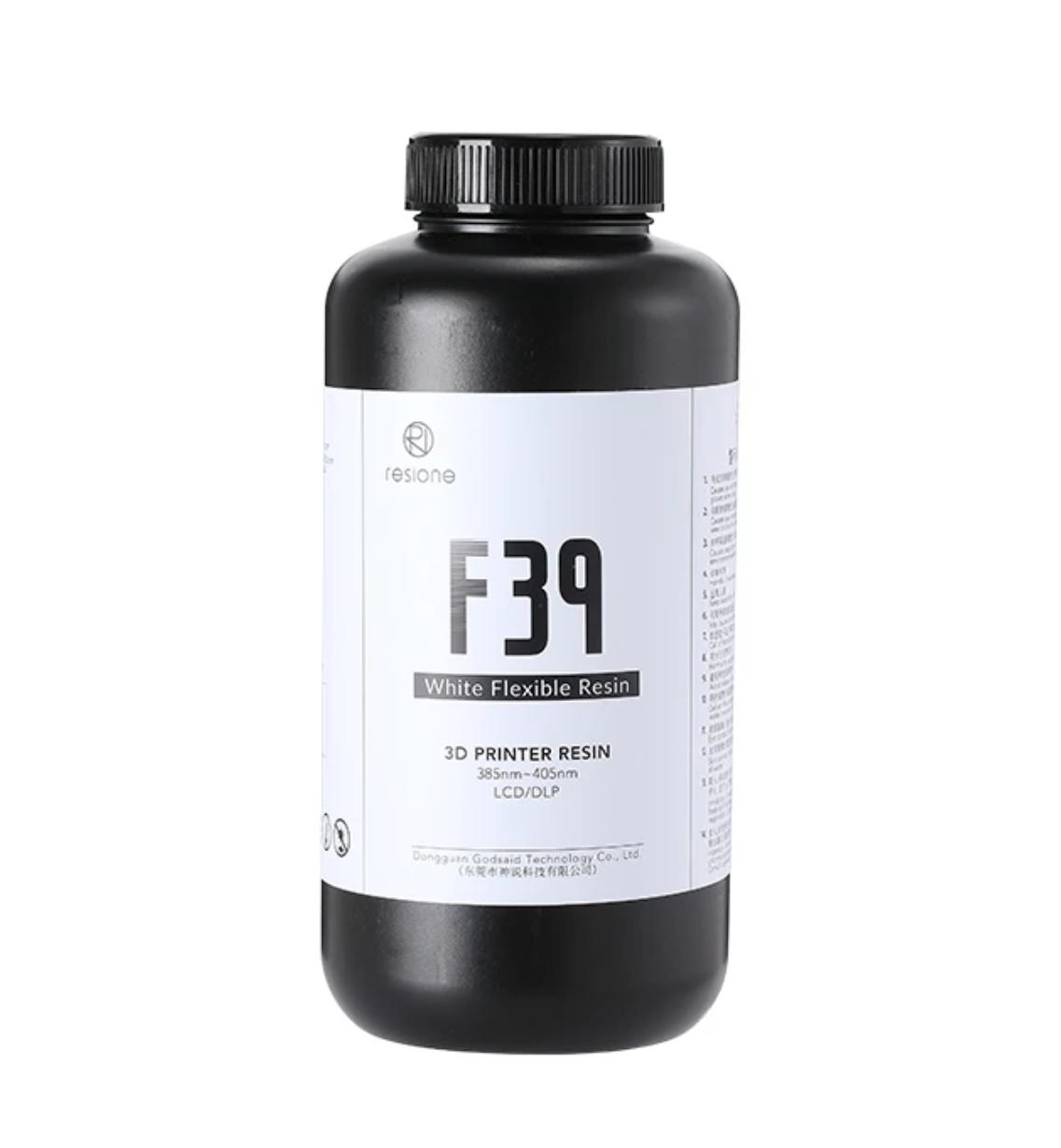 Resione F39 White Flexible Rubber-like 3D Printer Resin 500g