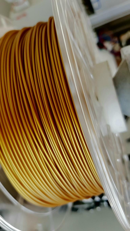 PLA RepRap PT - 1.75mm 500gr - Ouro Antigo
