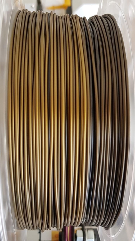 PLA RepRap PT - 1.75mm 1Kg - BICOLOR - Preto e Dourado (PT)