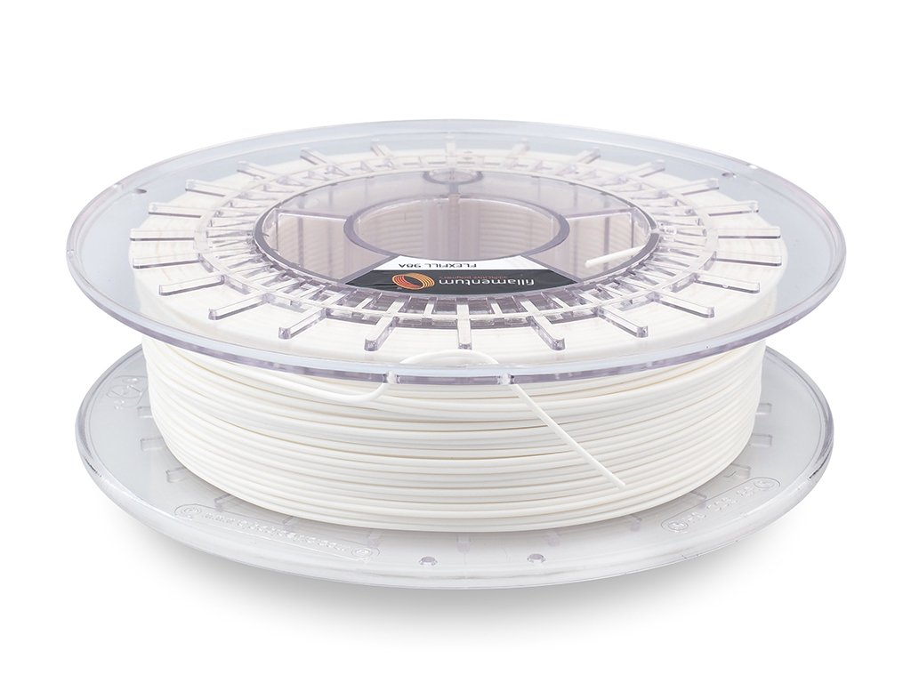 "Flex Fillamentum- 1.75mm 500gr - Flexfill 98A ""Traffic White"""