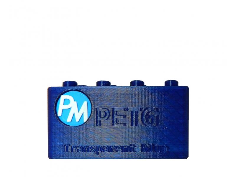 PETG Filament PM - 1.75mm 1Kg - Azul Transparente