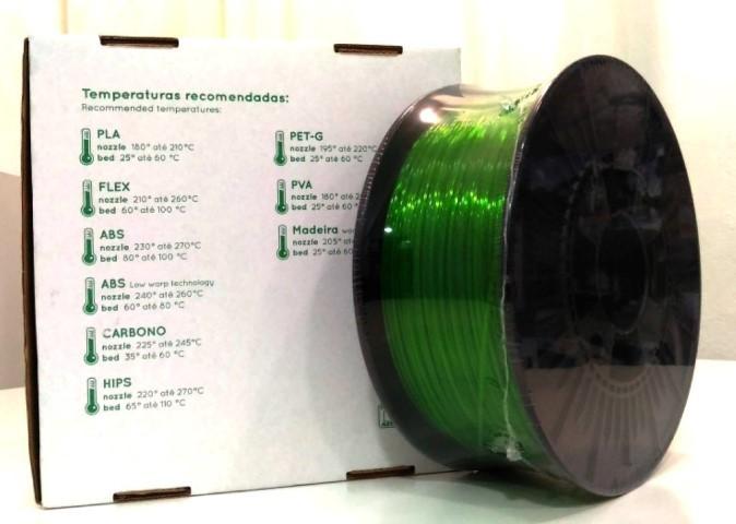 PETg RepRap PT - 1.75mm 1Kg - Verde Translúcido