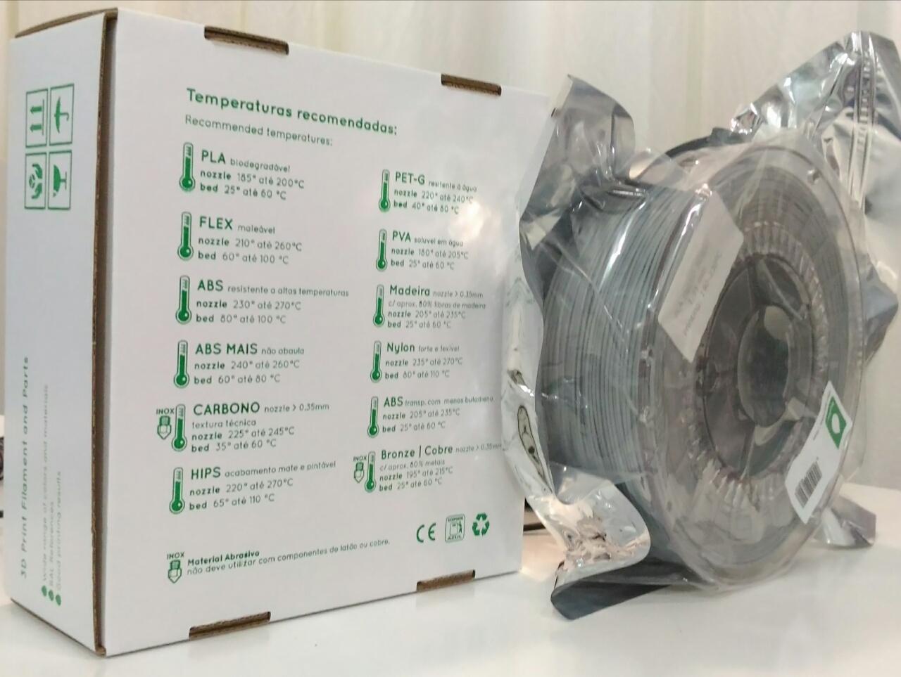 PLA INGEO 3D850 RepRap PT - 1.75mm 1Kg - Cinza