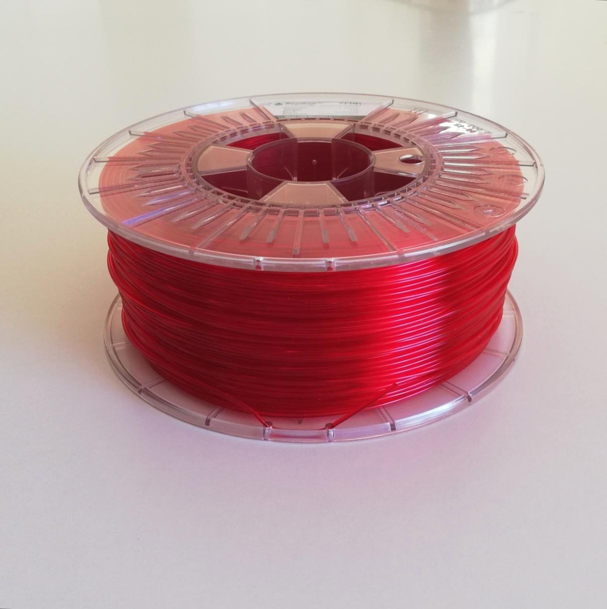 PETg RepRap PT - 1.75mm 1Kg - Vermelho Translúcido