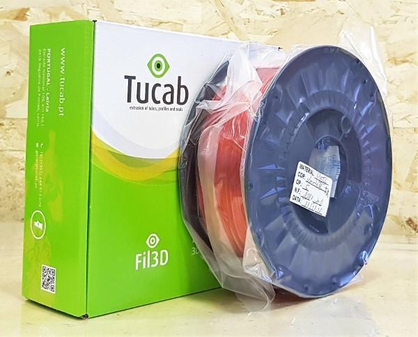 PETg Tucab - 1.75mm 1Kg - Vermelho Translúcido