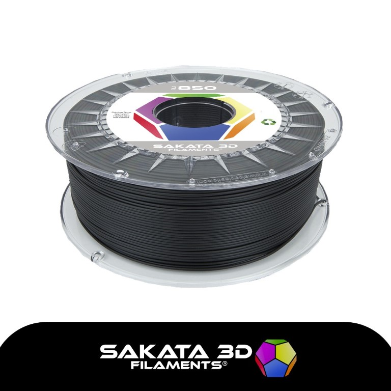 PLA INGEO 3D850 Sakata 3D - 1.75mm 1Kg - Preto