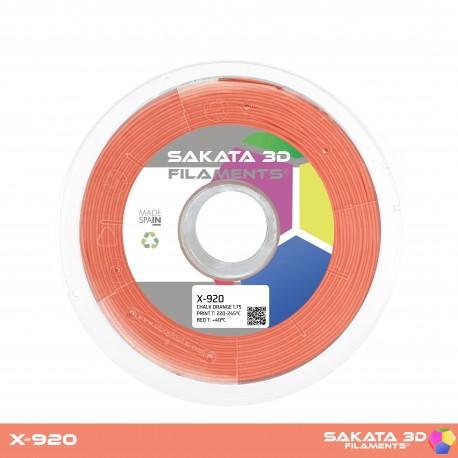 Flexível X-920 Sakata 3D - 1.75mm 450gr - ORANGE CHALK
