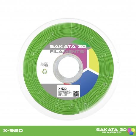 Flexível X-920 Sakata 3D - 1.75mm 450gr - GREEN CHALK