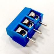 Conector 3 Pins Azul para PCB