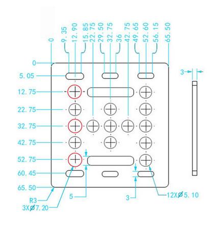 Estrutura Openbuilds V Gantry T3x65.5x65.5 p/2020