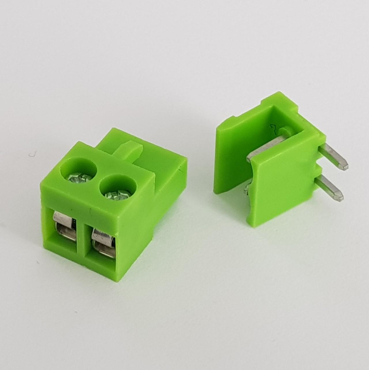 Conector 2pins PCB ht5.08 300V 10A Verde