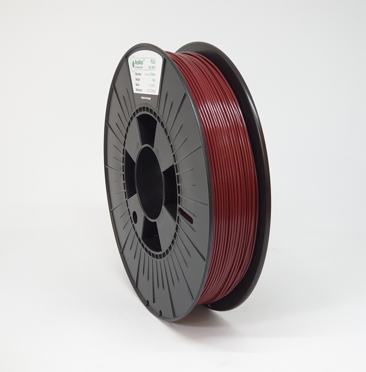 PLA RepRap PT - 1.75mm 500g - Bordeaux RAL 3005
