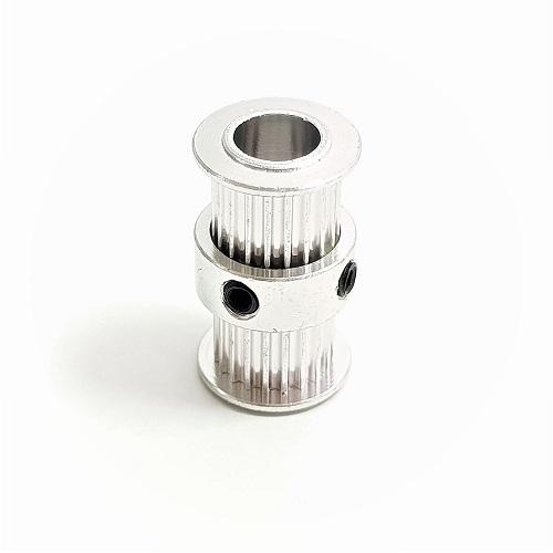 Polia Dupla Gt2 - 20 Dentes 8mm alumínio