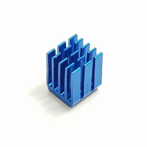 Dissipador para stepper driver 9 x 9 x 12 mm Azul