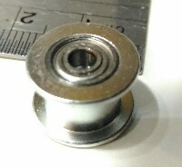Polia para alinhamento da correia Gt2 dia interno 3mm sem dentes (pequena)